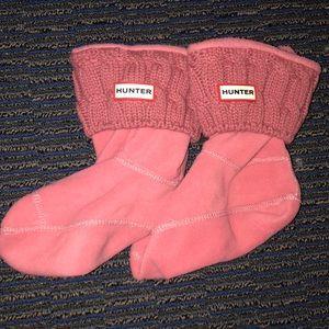 Cable knit Hunter socks